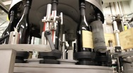 Wine Bottle Labeling Machine 6550 Stock Footage