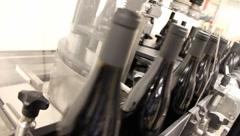 Wine Bottles in Factory 6546 Stock Footage