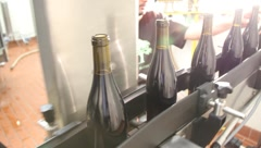 Wine Bottling Plant 6538 Stock Footage
