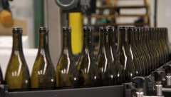 Wine Bottling Production 6494 Stock Footage