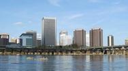 Stock Video Footage of Richmond, Virginia Skyline & River #2