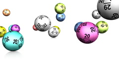 Lotto Balls Bouncing Animation (HD) Stock Footage