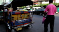 Tuk Tuk On The Streets of Bangkok, Thailand, Thai Busy Traffic, Rickshaw, Moto Footage