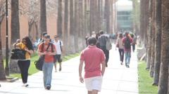 Arizona State University -  Palm Walk Telephoto Shot - stock footage
