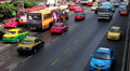 Bustling Street Scene Of Bangkok, Thailand, Thanon Phetchaburi, Colourful Cars Footage