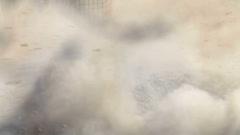 motocross start - stock footage