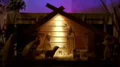 Crib (Christmas) Stock Footage
