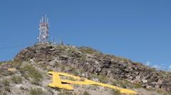 "ASU Arizona State University ""A"" Mountain Stock Footage"