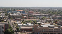 ASU Arizona State University high view wide campus pan - stock footage