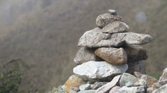 Inca Trail Rocks Stock Footage
