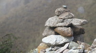 Stock Video Footage of Inca Trail Rocks