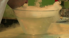 Dry ice in the water Stock Footage