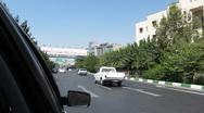 Driving Through Tehran Street 4 Stock Footage
