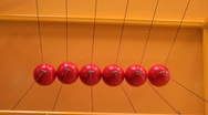 Balls on strings Stock Footage