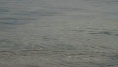 Beautiful waves crashing on beach shore in Thailand Island Stock Footage