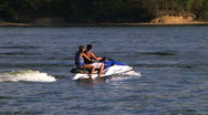 Young Couple On Jet Ski Stock Footage