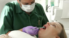 Dentist Administering Anesthetic (HD) Stock Footage