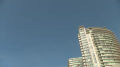 High Rise Building Condos Driving Vancouver POV Stock Footage