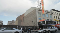 Apollo Theater in Harlem NYC Stock Footage