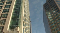Downtown Vancouver Driving Highrise Building POV Stock Footage