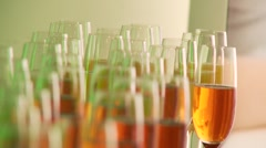 Glasses, Sparkling Wine Stock Footage
