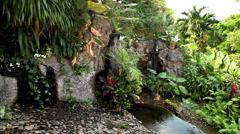 Beautiful Paradise Garden, Wat Saket in Bangkok, Thailand, Golden Mountain Stock Footage