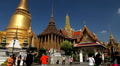 View of the Grand Palace in Bangkok, Thailand, Wat Phra Kaews, Yak Chedi, Buddha Footage