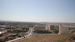 ASU Arizona State University high view telephoto campus pan - stock footage