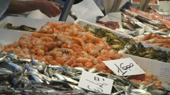 Italian fish market Stock Footage