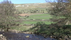 Upland scenic shot near Reeth, Swaledale. Stock Footage