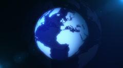 Blue Globe Loop Stock Footage