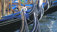 Gondolas in Venice, Italy Stock Footage