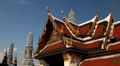 View of the Grand Palace in Bangkok, Thailand, Wat Phra Kaews, Yak Chedi, Buddha HD Footage