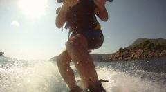 Waterskiing Stock Footage
