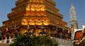 View of the Grand Palace in Bangkok, Thailand, Wat Phra Kaews, Yak Chedi, Buddha Footage