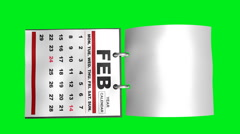 Year Calendar Flipping Pages (HD) - stock footage