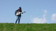 Stock Video Footage of Girl Guitar Player