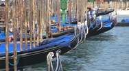 Stock Video Footage of Gondolas in Venice, Italy