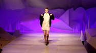 Model walking on the runway at a fashion show Stock Footage