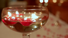 Floating candle centerpiece Stock Footage