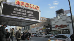 Apollo Theater in Harlem (close) Stock Footage