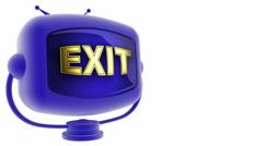 Exit on loop alpha mate tv Stock Footage