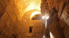 Western wall tunnels 9 Stock Footage