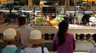 People Praying, Worship in Grand Palace in Bangkok, Thailand, Wat Phra Kaeo Stock Footage