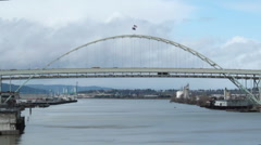 Fremont Bridge Close up Stock Footage