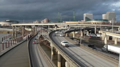 Portland Interstates Stock Footage