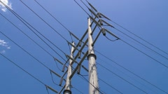 High Voltage - Main Power Transmition Lines Stock Footage