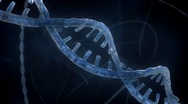 Stock Video Footage of DNA Strand - Blue Version 1