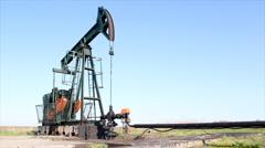 Oilfield pump jack Stock Footage