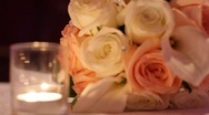 Wedding bouquet candle Stock Footage